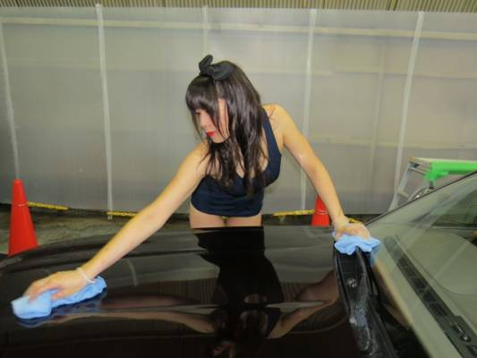 女子スクール洗う
