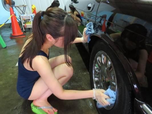 ホイール洗車水着