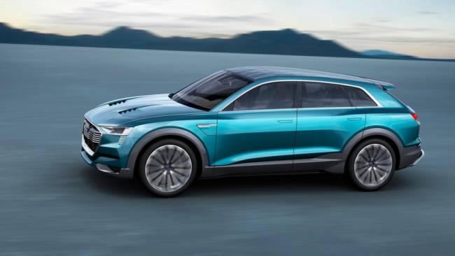 EVコンセプトカーAudi e-tron quattro conceptフランクフルト国際モーターショーで発表