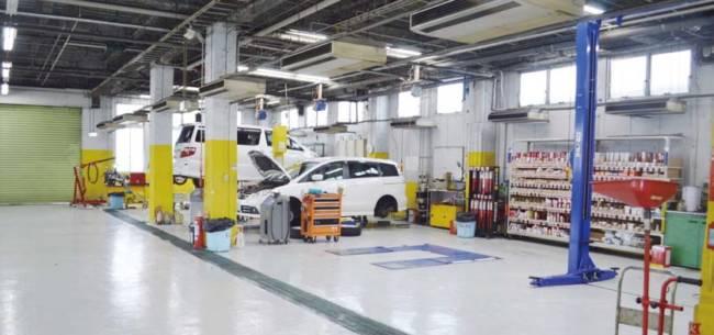 ホリデー車検法隆寺店の水性塗料導入事例